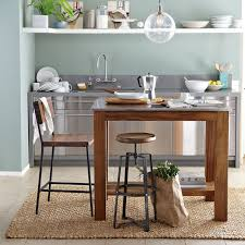 rustic kitchen island west elm