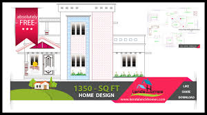 Home Design Blueprints Free 1370 Sq Ft Free Kerala Home Design Plans Within Your Budgetreal