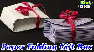 diy crafts paper folding gift box easy crafts for kids