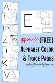 uppercase alphabet color and trace worksheets with free printables