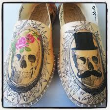 creepy skull shoes for halloween weddings and beyond