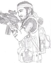 Black Ops Frank Woods Sketch By Star Mii On Deviantart Call Of Duty Black Ops Coloring Pages