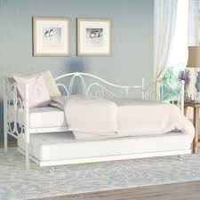 White Metal Daybed With Trundle White Daybeds You Ll Wayfair