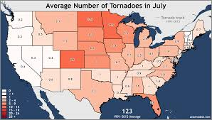 The United States Midwest Region Map by Annual And Monthly Tornado Averages For Each State Maps U S