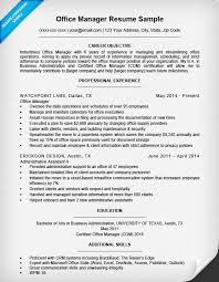 resume exles for executives office manager resume sle resume companion