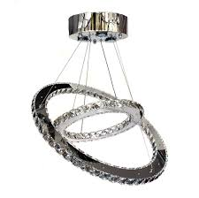 Galaxy Chandelier Contemporary Chandelier Galaxy Two Ring Crystals Lighting