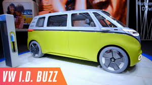 volkswagen microbus fully electric vw microbus concept youtube