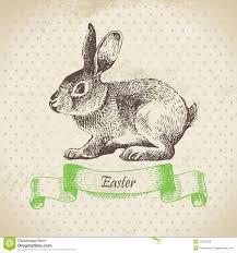 vintage rabbit vintage background with easter rabbit stock photography image