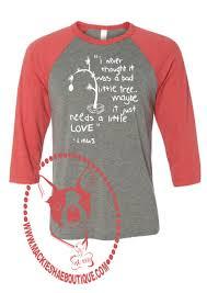 linus christmas tree linus christmas tree custom shirt 3 4 sleeve mackie shae