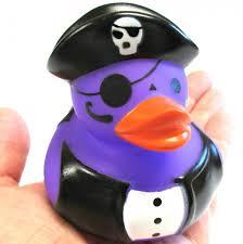 jumbo purple pirate rubber ducky halloween vinyl figure decoration
