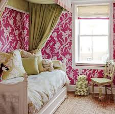 pink daybed with elephant table transitional u0027s room