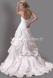 tissus robe de mari e robe de mariée simple courte devant asymétrique avec tissus plissé