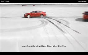 nissan canada tv commercial noticed this quick disclaimer on a nissan commercial funny