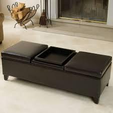 White Leather Ottoman Furniture White Tufted Ottoman Coffee Table Cream Leather