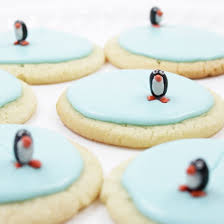 create mini ice skating rinks for penguins with frosted sugar