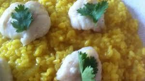 comment cuisiner la lotte au four joues de lotte rôties au four et risotto au curcuma recette