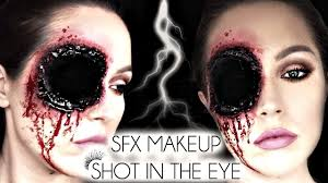 Eye Halloween Makeup by Shot In The Eye Sfx Halloween Makeup Laura Sommerville Youtube