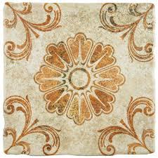 merola tile costa arena decor fleur 7 3 4 in x 7 3 4 in ceramic