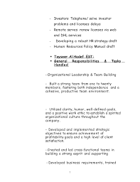 Sample Resume For Financial Analyst by Ghaidaa C V 2014 Business Developer Or Traning And Development