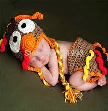 Thanksgiving Dress Baby New Newborn Baby Boy And Photography Props Boy Turkey Hat And