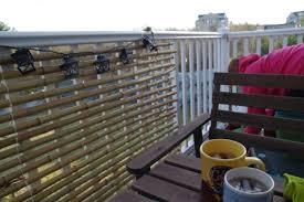 bambus sichtschutz auf dem balkon bauen deko ideen für die terrasse