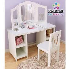 Kid Kraft Desk Kidkraft Deluxe Wood Makeup Vanity Table With Chair And Mirror