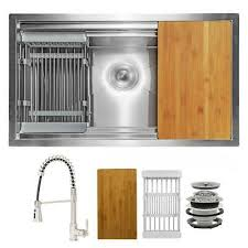 metal kitchen sink and cabinet combo handmade all in one undermount stainless steel 30x18 in single bowl kitchen sink ebay