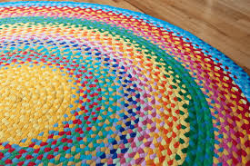 Braided Rug How To Make Fabulous Rainbow Braided Rugs Using Old Clothing