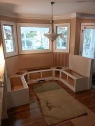 kitchen bay window seating ideas love the this idea seating with storage for bay window in kitchen