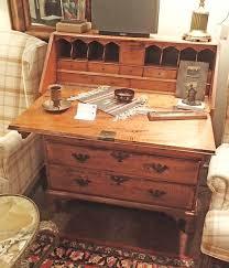 antique drop front desk 18th century chippendale drop front desk with brass hardware