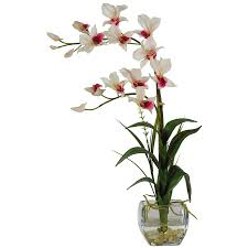 Dendrobium Orchid Shop Nearly Natural 22 In White Dendrobium Orchid At Lowes Com