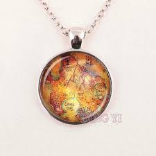Neverland Map Online Buy Wholesale Peter Pan Map Necklace From China Peter Pan