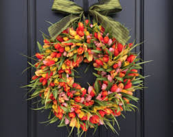spring wreaths for front door view summer wreaths by twoinspireyou on etsy