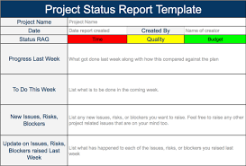 what is a report template steering committee status report template project status report