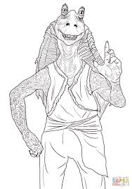 jar jar binks coloring free printable coloring pages