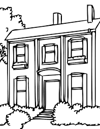 houses and homes coloring pages for preschool kindergarten inside