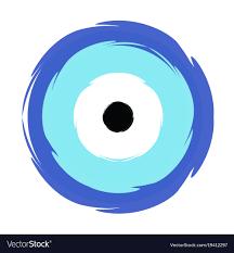 blue evil eye symbol of protection vector image