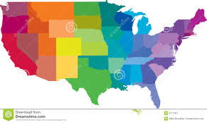 Map Of The States In The United States by American States Map Royalty Free Stock Photography Image 5771057