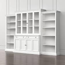 Glass Door Bookshelves by Bookshelves Crate And Barrel