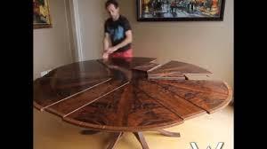expanding circular dining table expanding circular dining table in walnut youtube