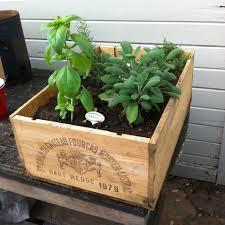 cedar planter box with wood cedar planter box in the garden