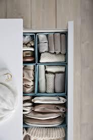 ikea skubb drawer organizer skubb box set of 6 light blue organize socks organizing and