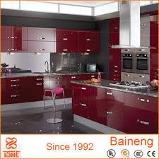 High Gloss Red Kitchen Cabinet Dubai Designs Of Kitchen Hanging - Kitchen hanging cabinet