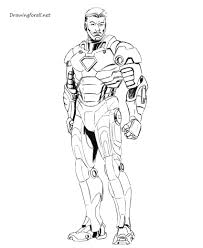 how to draw iron man step by step drawingforall net