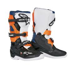 low cut motocross boots alpinestars kids mx boots tech 7s black orange white 2018 maciag