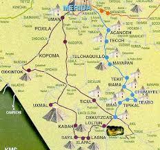map of mexico yucatan region ticul in yucatan mexico tour by mexico