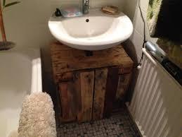 bathroom cabinet cupboard below sink from pallet timber pallet diy