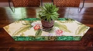 Tropical Decor Table Runner Handmade Tropical Decor Beach Decor Hawaiian Decor