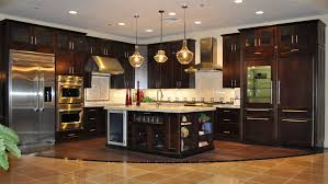 Cherry Wood Kitchen Cabinets With Black Granite Stainless Steel Pendant L Kitchen Design Pictures Cabinets