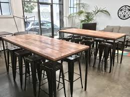 Dining Room Table Reclaimed Wood Hand Crafted Industrial Reclaimed Wood Table With Blackened Steel
